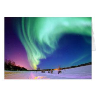 Aurora Borealis in Alaska Karte
