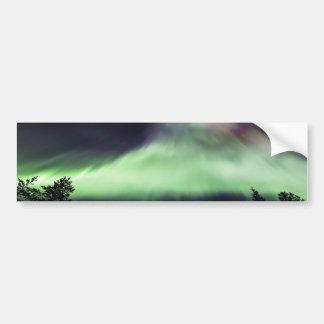 Aurora borealis in finnischem Lappland Autoaufkleber