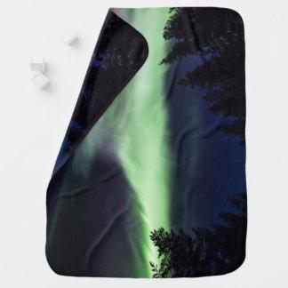 Aurora borealis in finnischem Lappland Kinderwagendecke