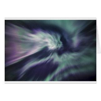 Aurora Borealis Muster Karte