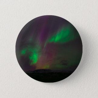 Aurora Borealis Nordlicht-Baum-Natur-Länder Runder Button 5,7 Cm