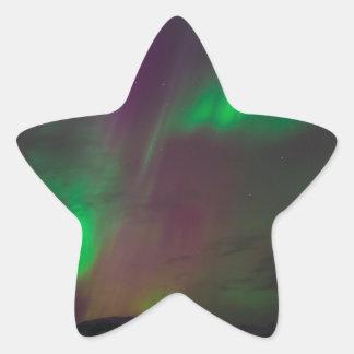 Aurora Borealis Nordlicht-Baum-Natur-Länder Stern-Aufkleber