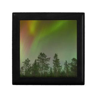 Aurora Borealis Nordlicht-Himmel-Glühen-Schein Erinnerungskiste