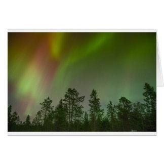 Aurora Borealis Nordlicht-Himmel-Glühen-Schein Karte