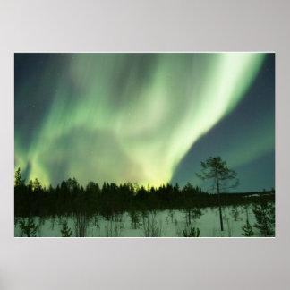 Aurora Borealis Nordlicht-Himmel-Nacht Poster