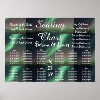 Aurora Borealis Nordlichter, die Sitzplätze Poster