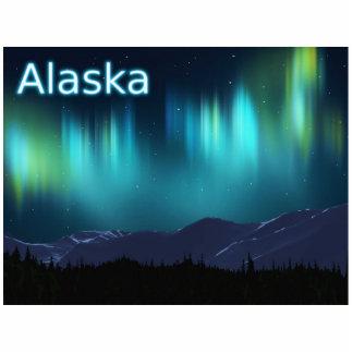Aurora Borealis - Nordlichter Fotoskulptur Magnet