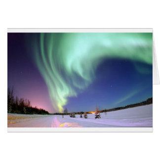 Aurora Borealis oder Nordlichter, Alaska Karte