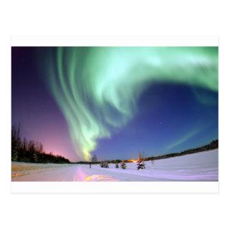 Aurora Borealis oder Nordlichter, Alaska Postkarte