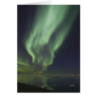 Aurora Borealis reflektiert im Nordpolarmeer Karte