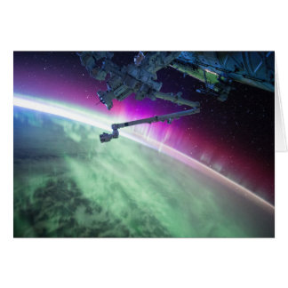 Aurora Borealis vom Raum Karte