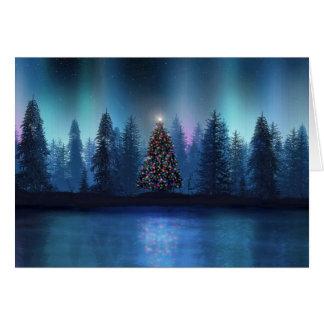 Aurora Borealis Weihnachten Karte