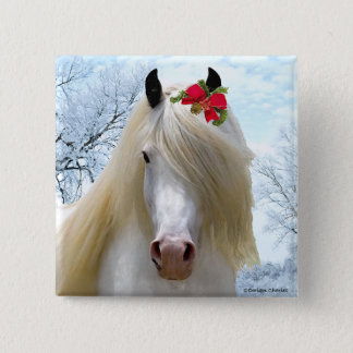"""""""Aurora-"""" Feiertags-Knopf Quadratischer Button 5,1 Cm"""