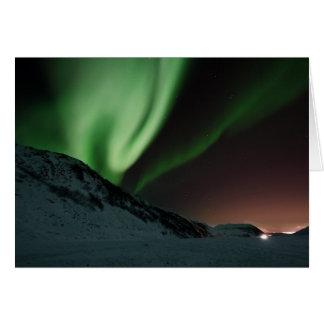 Aurora-Nordlichter Norwegen Karte