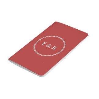 Aurora-Rot mit weißem Hochzeits-Detail Taschennotizbuch