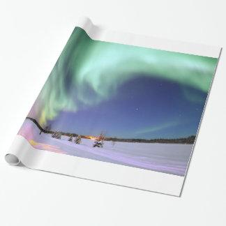 Aurora - schöne Nordlichter Geschenkpapier