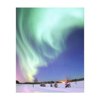 Aurora - schöne Nordlichter Leinwanddruck