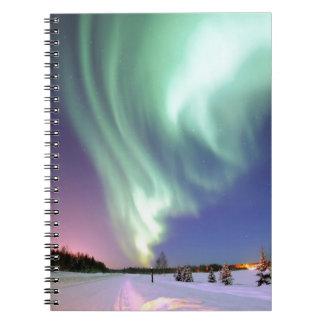 Aurora - schöne Nordlichter Spiral Notizblock