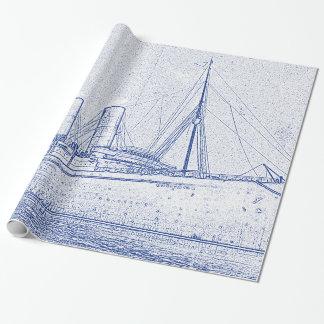Aus alter Zeit Kreuzfahrt Geschenkpapier