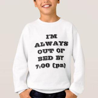 Aus Bett durch 7 Sweatshirt des Slogan-