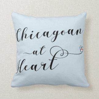 Aus Chicago am Herz-Wurfs-Kissen, Chicago Kissen