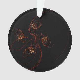 Aus dem dunklen abstrakten Kunst-Acryl-Kreis Ornament