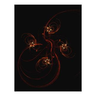 Aus dem dunklen abstrakten Kunst-Flyer heraus 21,6 X 27,9 Cm Flyer