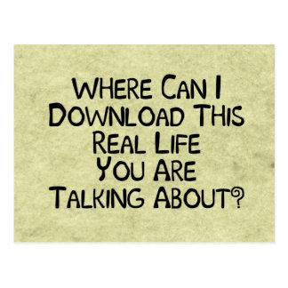 Aus dem wirklichem Leben Postkarte