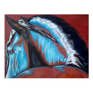 Aus heiterem Himmel Pferdekunstpostkarte Postkarte