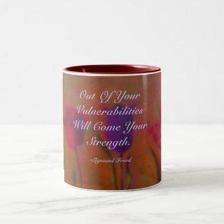 Aus Ihrer Verwundbarkeit heraus seien Sie COM… Zweifarbige Tasse