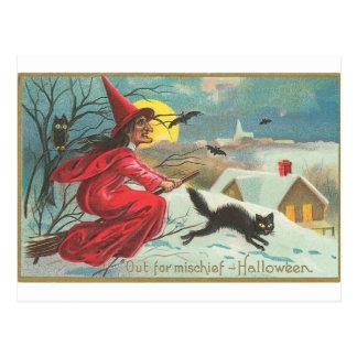 Aus Unfug - Halloween heraus Postkarte