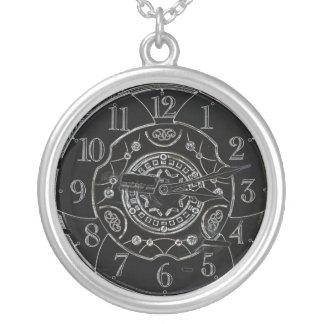 Aus Zeit-Halskette heraus Halskette Mit Rundem Anhänger