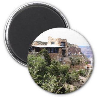 Ausblick-Studio, Grand- Canyonsüdkante Runder Magnet 5,1 Cm