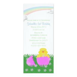 Ausbrüten der Baby-Küken-Geburtstags-Party 10,2 X 23,5 Cm Einladungskarte