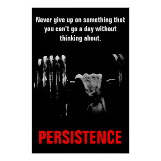 Ausdauer-Bodybuildings-Trainings-arbeiten schwer Poster