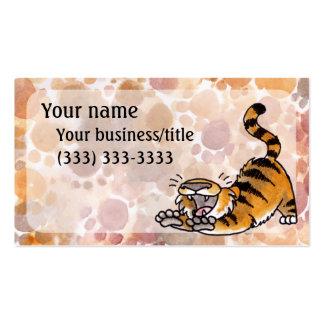 Ausdehnen der Tiger-Visitenkarte Visitenkarten