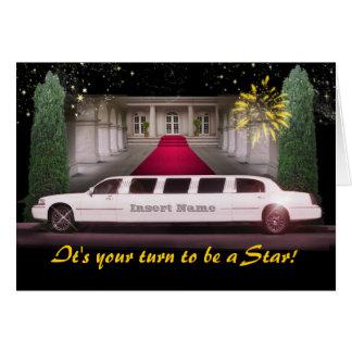 Ausdehnungs-Limousine V I P kundengerecht Grußkarte