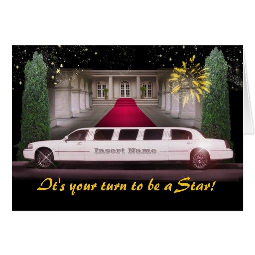 Ausdehnungs-Limousine V.I.P. (kundengerecht) Grußkarte
