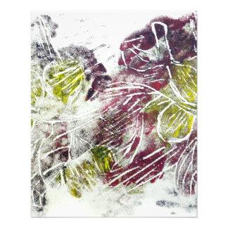 Ausdrucksvolles abstraktes Herbst-Blätter Flyer