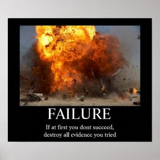 Ausfall - lustiges motivierend Plakat