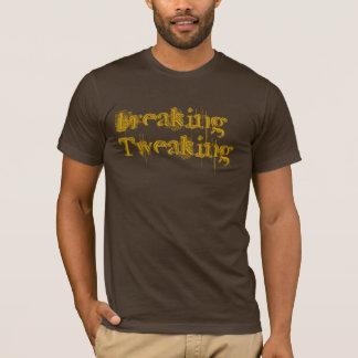 Ausflippendes Zwicken durch heiße Loch-Kleidung T-Shirt