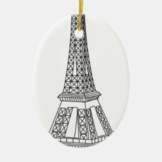 Ausflug Eiffel Keramik Ornament