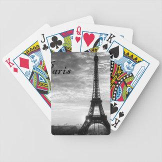Ausflug Eiffel Paris - Sonnenuntergang in Bicycle Spielkarten