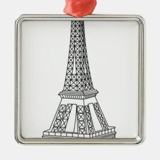 Ausflug Eiffel Silbernes Ornament