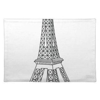 Ausflug Eiffel Stofftischset