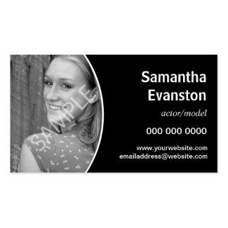 Ausführend-Headshot gebogenes Schwarzes Visitenkarten Vorlagen
