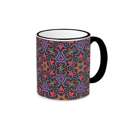 Ausführliche Trippy abstrakte Kunst-Muster-Tasse -