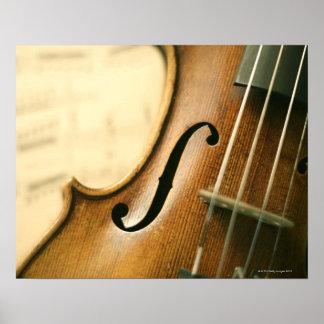 Ausführliche Violine Poster