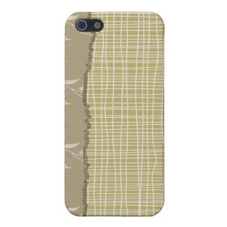 Ausführliche weiße Faden auf blassem em-grün iPhone 5 Case