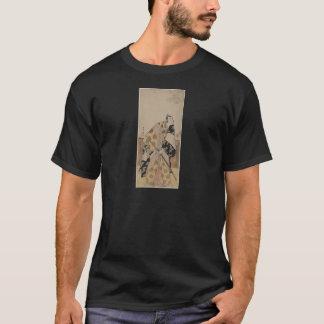 Ausführliches Porträt eines Samurais circa 1700s T-Shirt